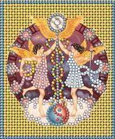 Схема для вышивки бисером Знак зодиака Золото Близнецы КМР 6020