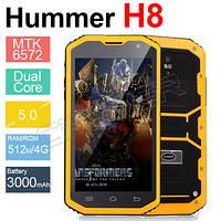 Hummer H8  с IP68 MTK6572 Aндроид 4.2 3 г GPS AGPS 5.0 дюймов противоударный водонепроницаемый смартфон 3000 м