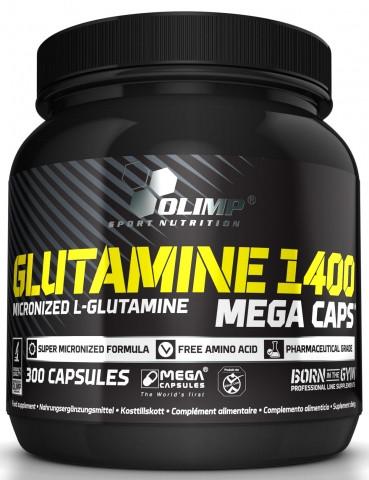 Glutamine Mega Caps 1400 Olimp Labs  300 капсул
