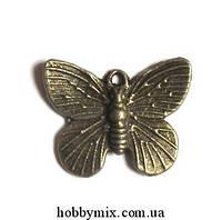 """Метал. подвеска """"бабочка"""" бронза (1,8х1,5 см) 8 шт в уп"""