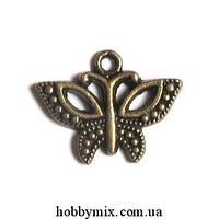 """Метал. подвеска """"бабочка"""" бронза  (1,6х1,6 см) 12 шт в уп"""