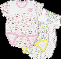 Детский боди-футболка с принтом, на кнопках, хлопок (кулир), ТМ Алекс, р. 80, 86, Украина