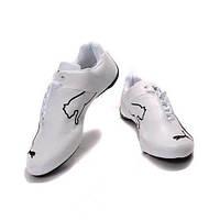 Изящные белые кроссовки Puma/Ferrari Low, размер 46, стелька 30см, мужская модель, боковая шнуровка, эко-кожа