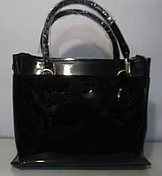 Большая лаковая кожаная сумка Voee vodd