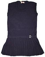 Синий теплый сарафан для девочки, рост 98/104 см, ТМ Дайс
