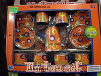 """Детский игровой набор """"Чайный сервиз"""" S 086J оранжевый"""