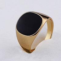 Перстень квадрат покрытие золотом 18К