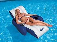 Кресло матрас надувное пляжное Intex 180 х 135 см