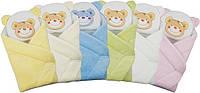 """Конверт - одеяло для новорожденного с подушкой  махровый (голубой ) """"Duetbaby"""""""