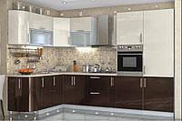 """Кухня модульная """"High Gloss"""" угловая 3200 * 1700 мм"""