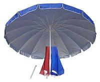Пляжный торговый зонт с серебристым напылением 3 м с клапаном