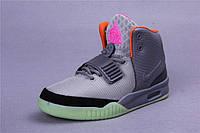 Кроссовки Nike Air Yeezy 2 ИЗИ СЕРЫЕ Оригинал мужские модные
