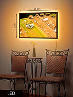 LED Картина  Капли воды