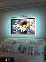 Картина LED , Ромашка в каплях