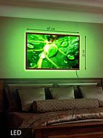 LED Картина Капли воды на листе