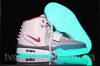 Кроссовки белые женские Nike Air Yeezy 2 Оригинальные