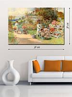 Картина 38х58 см на холсте «В цветочном саду»