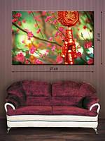 Фотографическая картина «Цветение сакуры»