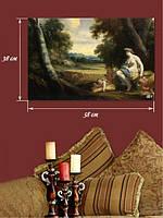 Картина 38х58 см на холсте «Детский труд»