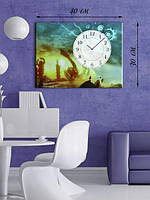 Фотографическая картина с часами «Древние руины»
