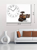 Фотографическая картина с часами «WALL-E за работой»