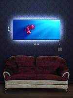 Картина с подсветкой 29х69 «Рыбка в аквариуме»