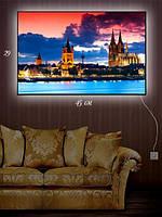 Картина с подсветкой 29х45 «Пражский замок»