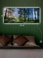 Картина с подсветкой 29х69 «Шишкин лес»