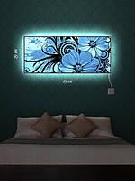 Картина с подсветкой 29х69 «Цветочный оттиск»