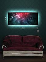 Картина с подсветкой 29х69 «Свечение под водой»