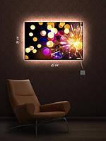 Картина с подсветкой 29х45  «Новогодние огоньки»