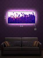 Картина с подсветкой 29х69 «Заснеженные цветы»