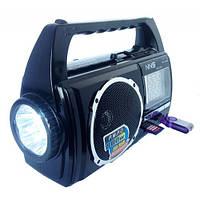LED-фонарь с радиоприёмником NS-100U, кардридер USB/SD, аналоговый тюнер, яркое переносное освещение