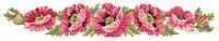 """Заготовка для вишивки жіночого поясу """"Маки рожеві"""" під бісер (ПСд-042)"""