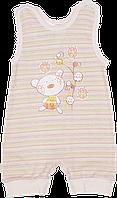 Детский песочник-майка, кнопки на шлейках и внизу, хлопок (кулир-пинье), ТМ Валери, р. 68, Украина