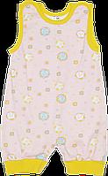 Детский песочник-майка, кнопки на шлейках и внизу, хлопок (кулир-пинье), ТМ Валери, р. 74, Украина