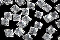 Стразы термоклеевые, Квадрат 8*8 мм, Crystal