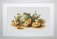 """Набор для вышивки крестом """"Натюрморт с грибами"""""""