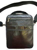 Кожаная мужская сумка тёмно-коричневого цвета.