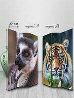 Ширма двусторонняя, Тигр и Лемур