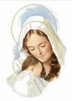 Вишивка бісером Марія з диттям (ТО-029)