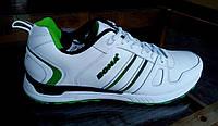 Белые мужские кожаные кроссовки Bona