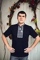 Трикотажная футболка с вышивкой мужская