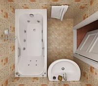 Акриловая ванна с гидромассажем Triton Кэт 1500x700 (гидромассаж+спинной массаж)