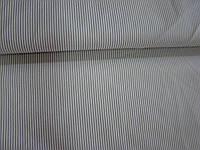 Ткань рубашечная (белая в мелкую бежевую полоску)