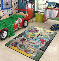 Ковер в детскую комнату Confetti - Race зеленый 100х150