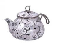 """Эмалированный чайник Interos """"Кружево"""" 1279 2,2л."""
