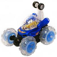 Лучший подарок ребенку! Луноход-трюкач на РУ, автоматический режим, три пары колёс из силикона, с подсветкой