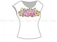Заготовка женской блузы без рукавов для вышивки бисером «Цветочная симфония»