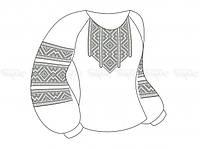 Заготовка женской блузы для вышивки бисером «Монохром»
